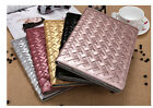 Unique Design Women Weave Flip Stand Leather Cover Case For iPad Mini 2/3/4/5/6