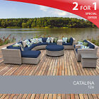 Catalina 12 Piece Outdoor Wicker Patio Furniture Set 12a 2 for 1