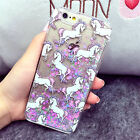 Glitter Dynamic Quicksand White Horse Hard Phone Case Cover For iPhone 6/6s plus