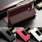 Luxury Protective PU Leather Smart Windows View Stand Case Cover For Huawei P9