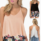 CHIC Women Summer Casual Backless Sleeveless Shirt T-shirt Blouse Tops Vest