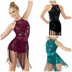 NEW 'Light' Dance Jazz Tap Baton Sequin Fringe Competition Costume Child & Adult