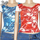 O'NEILL BOARD BABES 'SPEED FLOWER' WOMENS T-SHIRT STRETCHY TOP 8 10 BNWT RRP £35