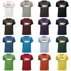 STUFF4 Men's Round Neck T-Shirt/Hungary/Hungarian Flag Splat/CS