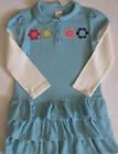 GYMBOREE Smart and & Sweet Dress 5 NWT Blue Polo Tiered Long Sleeve NEW