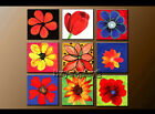 Modern Flower Abstract Oil Painting Canvas Contemporary Wall Art Decor Framed 51