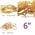 "Assorted 6"" Long Elastic Rubber Bands 6"" No.89 6"" No.69 6.29"" No.38 Wide Medium"