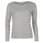 Only Womens Clare Stripe Design T Shirt Short Sleeves Tee Top Crew Neck Casual