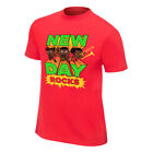 The New Day Cartoon WWE Authentic Mens Red T-shirt