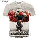 Fashion Women/Men's Cute Cloud Clown 3D Print Casual T-Shirt Blouse Tops