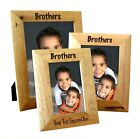 Personalised Brother Wooden Oak Portrait Photo Frame, Engraved Gift