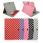 "Polka Dot Folio PU Leather Cover Case Stand For Google Android Nexus 10"" Tablet"