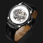 New Fashion Mechanical Men's Transparent PU Leather Band Watch FLENT