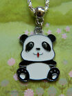 CUTE PANDA CHARM PENDANT NECKLACE ENAMEL