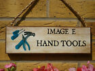 PERSONALISED SEED SHED SIGN GARDEN SIGN GARDENERS GIFTS FOR GARDENERS FORK SPADE