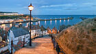 Whitby Yorkshire Evening Fishing Village Holiday Canvas Pictures Wall Prints
