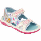 Girls Frozen Sandals Kids Youth ANNA ELSA Velcro Floral Strap Shoes By Disney