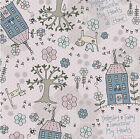 MY HEARTS AT HOME BY LYNETTE ANDERSON - HOUSE DESIGN ON LIGHT PINK cotton fabric