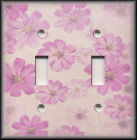 Light Switch Plate Cover - Antique Pink And Purple Flowers - Floral Home Decor