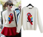 Women Ladies Loose Knitted Crewneck Sweater Sleeve Pullover Tops Knitwear S35