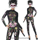 CL897 Sugar Skull Cat Mexican Day of the Dead Skull Skeleton Fancy Dress Costume