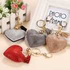 Newest Cute Rhinestone Crystal Heart Pendant Keyrings Keychain Key Chain N4U8