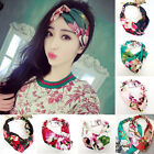Womens Girl Hair Band Turban Wide Floral Headband Twisted Knotted Yoga Head Wrap