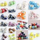Lots Colors Murano Ceramic Porcelain Charms European Bracelet Beads Finding