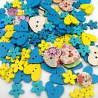 Mixed Color Wooden Buttons Sewing Button Kid's Scrapbooking DIY Craft Decoration