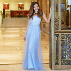 Women's Elegant Square Neck Long Evening Party Formal Prom Dress Ball Gown 08849