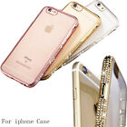 Back Case Cover For iPhone 6 6s Plus New Luxury Plating Crystal border Soft TPU