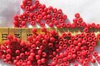 6/0 Vintage French Opaque Dark Red #3 Glass Seed Beads /1oz