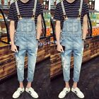 Fashion Men's Denim Overalls Jumpsuits Suspender Trousers Slim Fit Skinny Jeans