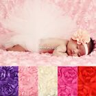 Baby Newborn 3D Rose Flower Mat Photography Photo Prop Backdrop Rug Blanket