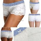 Female Women Lace Floral Pants Beach Shorts Sexy Boxer Lingerie Intimates N4U8