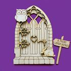 Fairy Door 3D Wooden Elf Owl Gothic Medieval Shapes Pixie Plywood 3D NEW FD7