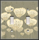Light Switch Plate Cover - Tan Flowers - Floral Home Decor/Bathroom Decor