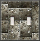 Light Switch Plate Cover - Steampunk Rusted Iron Image - Faux Finish Home Decor