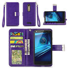 IZENGATE ID Wallet PU Leather Flip Case Cover Folio for Motorola Droid Turbo 2