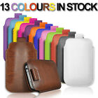PULL TAB LEATHER POUCH COVER CASE *only* fits Samsung Galaxy Note N7000, I9220