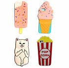 SUMMER 3D Ice Cream Lolly Cat Popcorn Novelty Fun Silicone Phone Case For iPhone