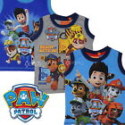 Boys Paw Patrol Sleeveless T Shirt Vest Top Ages 2-8 Years