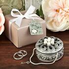 6 Pearl Flower Curio Jewellery Trinket Boxes Wedding & Party Filler Favors Gifts