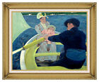 The Boating Party Mary Cassatt Painting Framed Canvas Giclee Art Reproduction