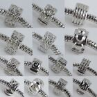 Silver Plated Clip Clasps Lock End Beads Stoppers Finding Fit EP Charms Bracelet