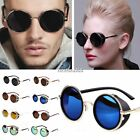 Hot Steampunk Sunglasses 50s Round Frame Glasses Cyber Goggles Vintage Blinder