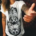 Summer Women Loose Short Sleeve Cotton Casual Blouse Shirt Tops T-shirt