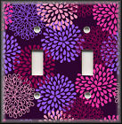 Light Switch Plate Cover - Pink And Purple Mum Flowers - Floral Home Decor