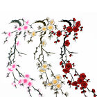Beauty Embroidered Plum Blossom Flower Patch Iron/Sew on Applique Motif CraftLAL