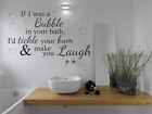 Funny Wall Quote If I Was A Bubble...bathroom Wall Art Sticker Quote Vinyl Decal